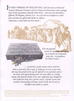 """Picture of """"IN THIS """"SHRINE OF THE SOUTH,"""" Text by Allison Bell—Design by Bonnie Bernstein"""