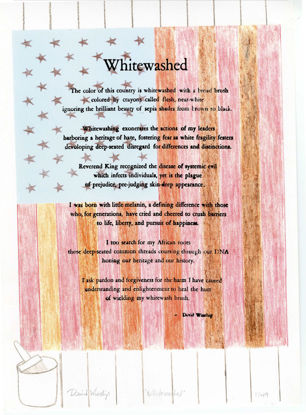 """Picture of """"Whitewashed"""" Poem, Image and Printing by David Winship"""